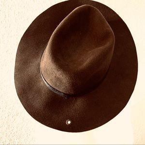 Peter Grimm 1963 Wool Fedora Hat Brown Unisex O/S